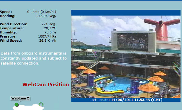 carnival dream webcam