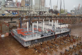 Royal Princess Keel Placed into Position