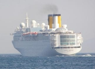 costa allegra fire