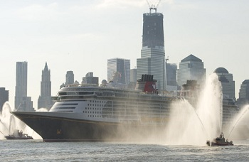 New Disney Ship The Fantasy to Be Christened Today in New York