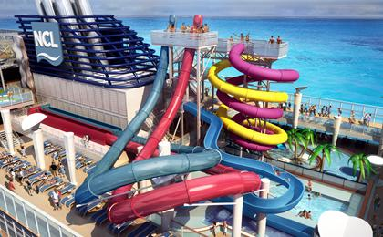 Norwegian Breakaway will have the first water park at sea
