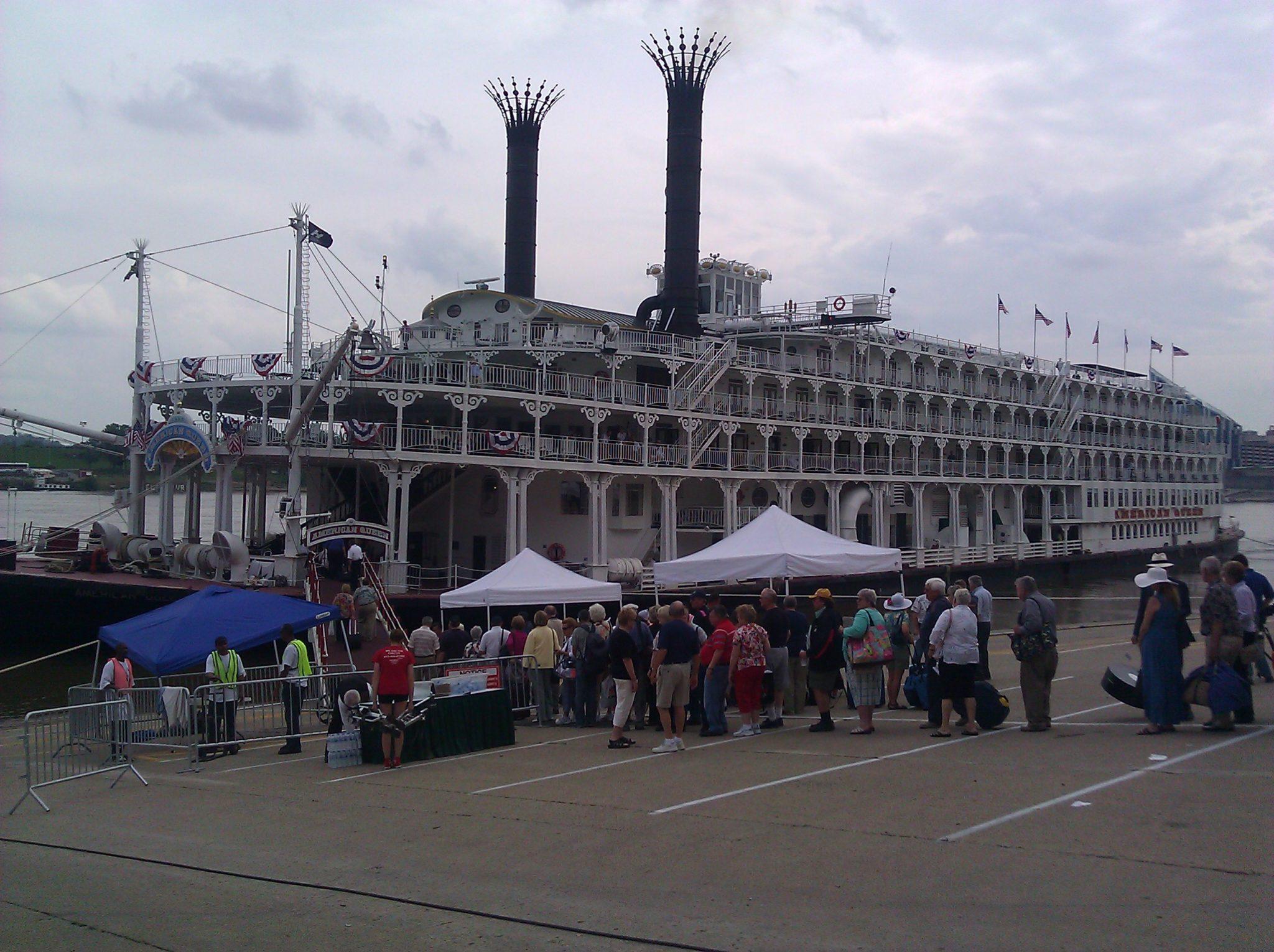 American Queen Docks in Cincinnati Offering a Piece of Americana