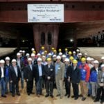 Norwegian Breakaway Keel Laid into Place