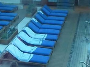 saving deck chairs on cruise ship