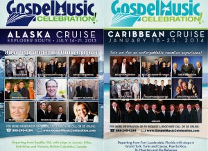 christian gospel singing cruise flyer