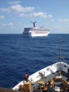 canrival triumph stranded at sea
