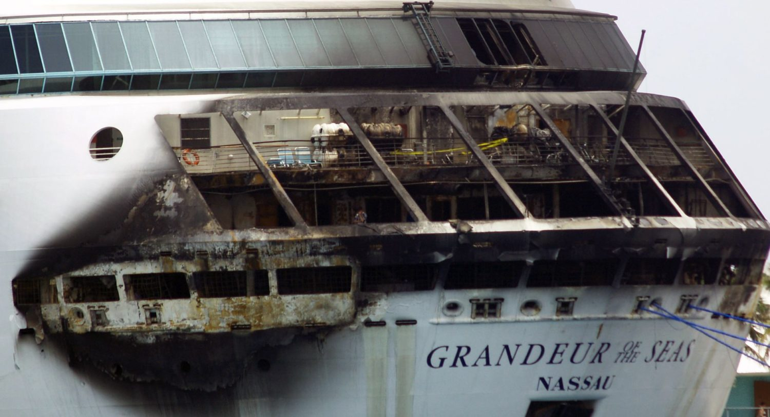 Royal Caribbean Cruise Ship Cancels Cruise Due To Fire - Cruise ship staff quarters
