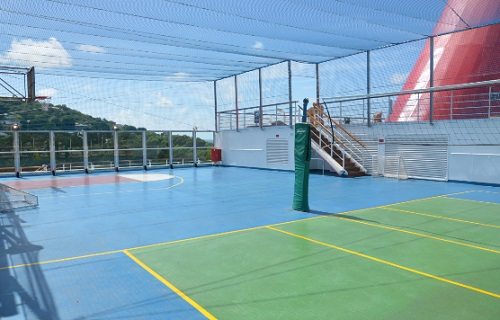 carnival liberty basketball and volleyball courts