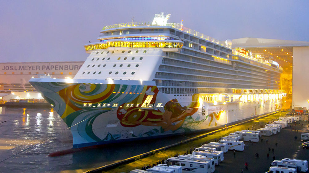 Norwegian Getaway Nears Completion