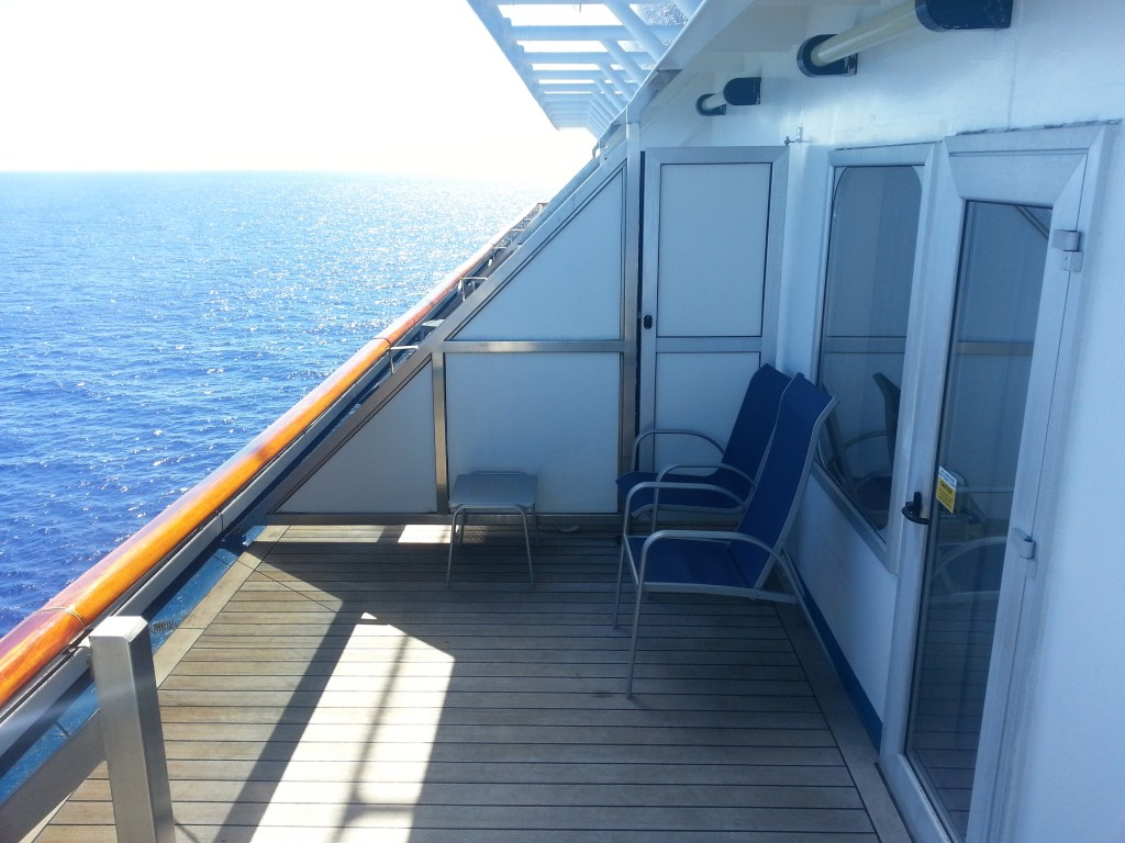 balcony on cruise