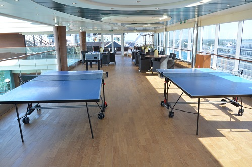 Ping pong tables on Divina