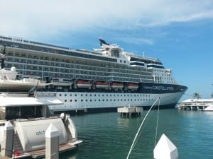 Celebrity Constellation in Key West after power failure.