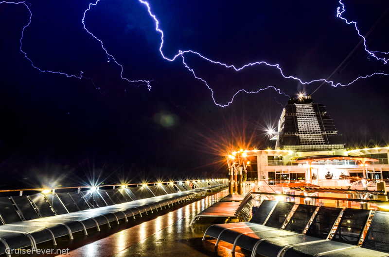 Pictures of Lightning from a Cruise Ship, Celebrity Constellation