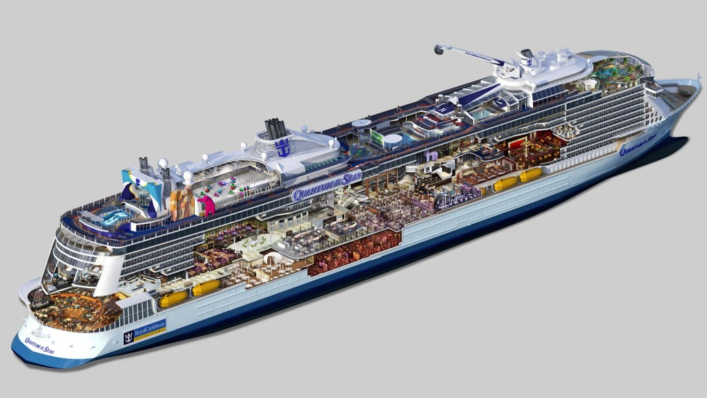 A cutaway of the Quantum of the Seas