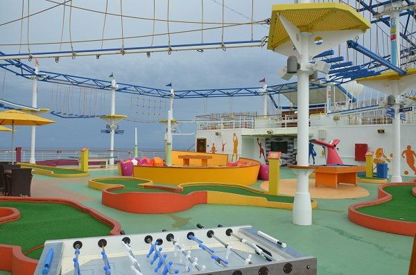 Carnival Breeze sports deck