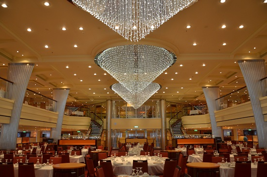 blush dining room on carnival breeze