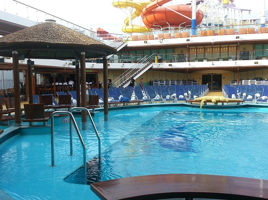 pool deck on carnival breeze