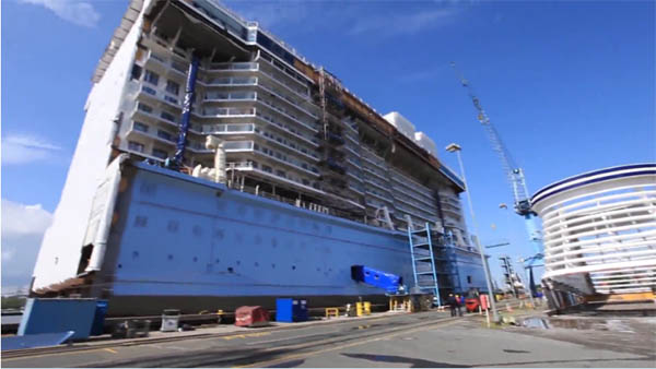 Video Building Mega Cruise Ships Block By Block Anthem Of The Seas - Cruise ship builders
