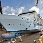 Oasis of the Seas Enters Drydock