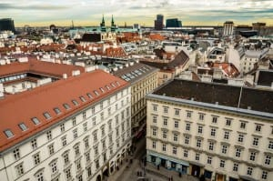 Vienna, Austria as seen from St. Stephen's Cathedral tower