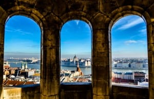 Budapest as seen from Fisherman's Bastion at Matthias Church
