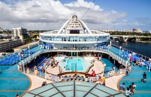 main pool deck caribbean princess