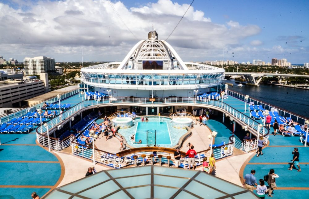 First Impressions Of Caribbean Princess Cruise Ship Out Of Port Everglades