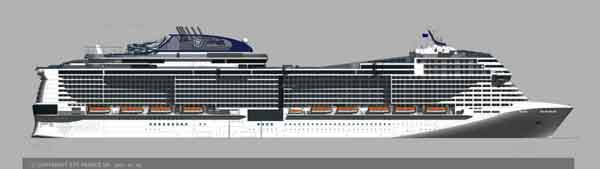 Artist Rendering of Vista Class Cruise Ship by MSC Cruises