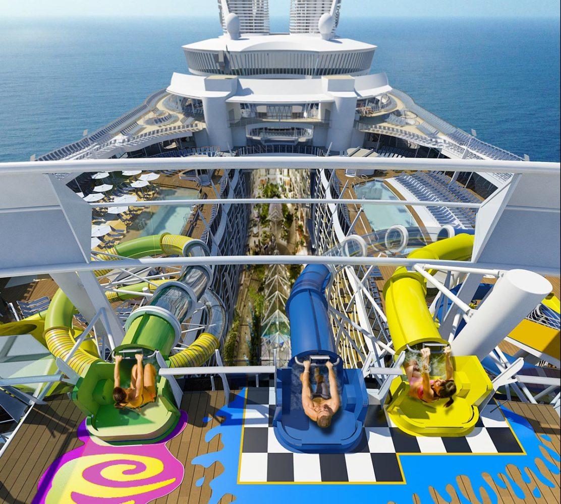 Harmony Of The Seas Will Feature A TenStory Waterslide - Best waterslides on cruise ships