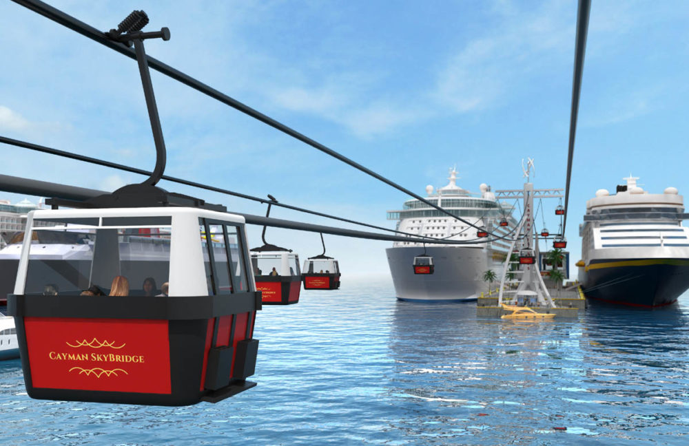 Grand Cayman Concept Cable Cars To Replace Cruise Tenders
