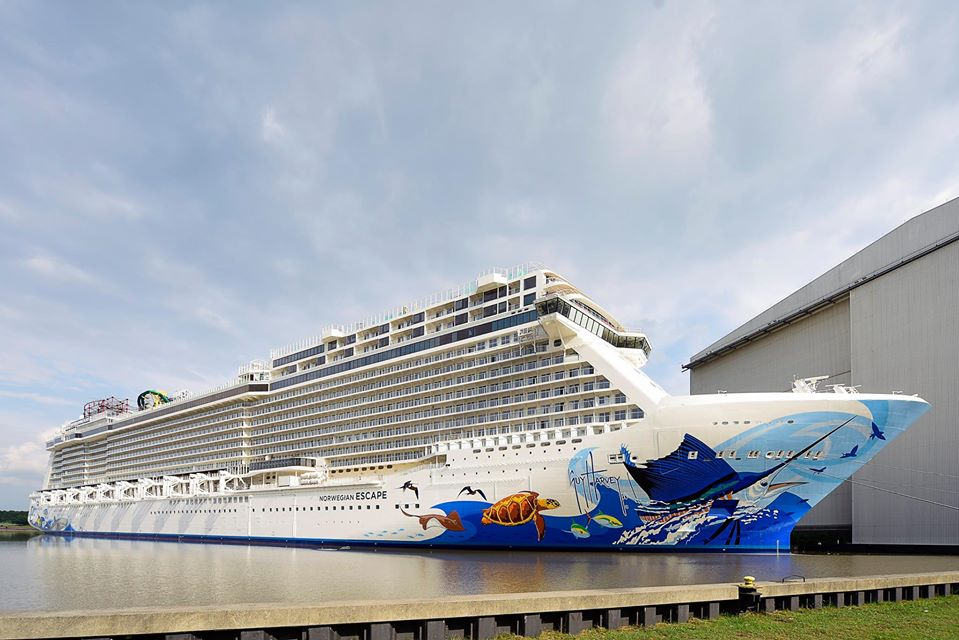 Norwegian Cruise Line Takes Delivery Of Their Largest