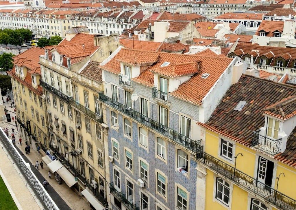 Lisbon's colorful houses.