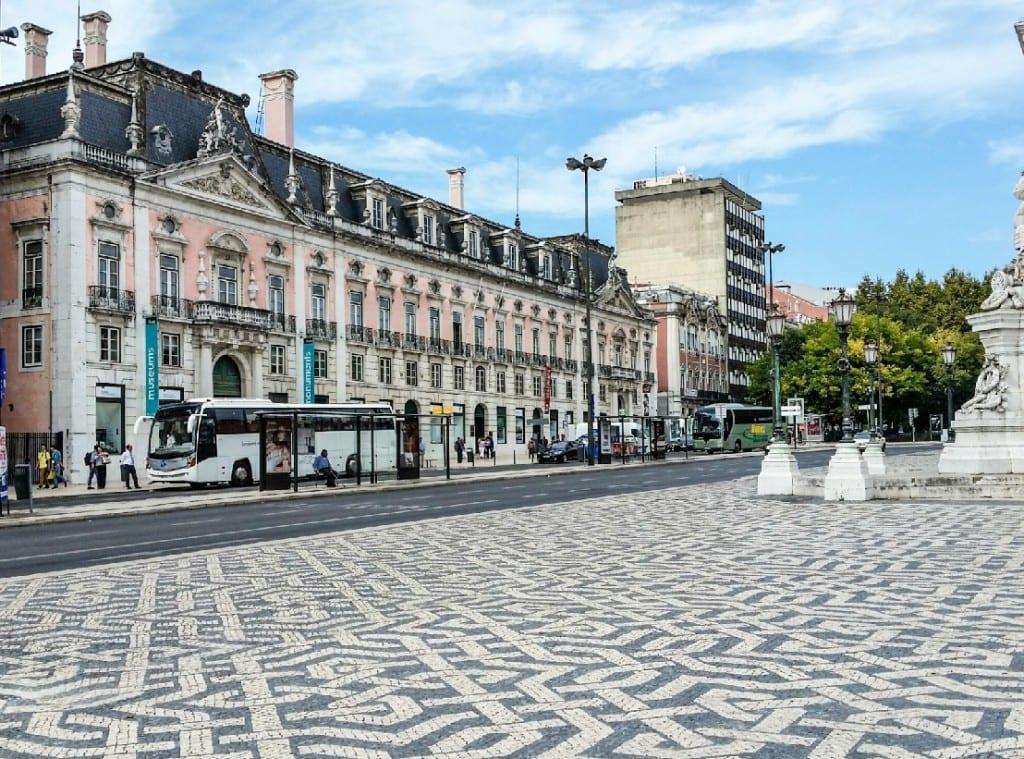 Mosaic sidewalks everywhere you go in Lisbon