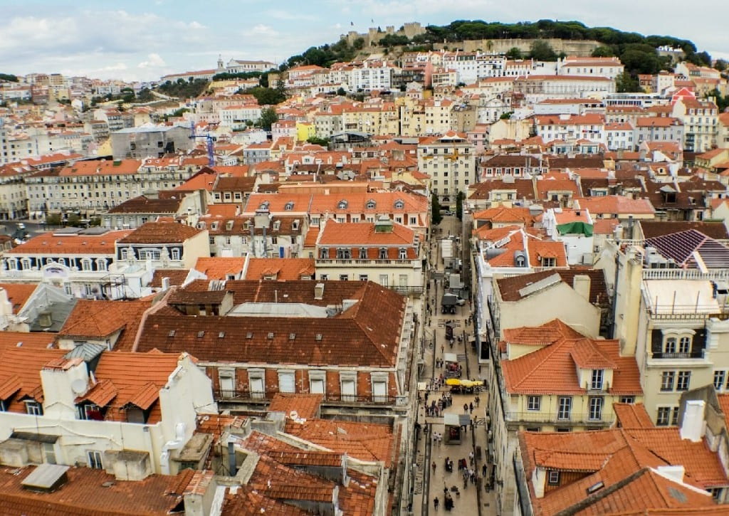 Lisbon Portugal from above