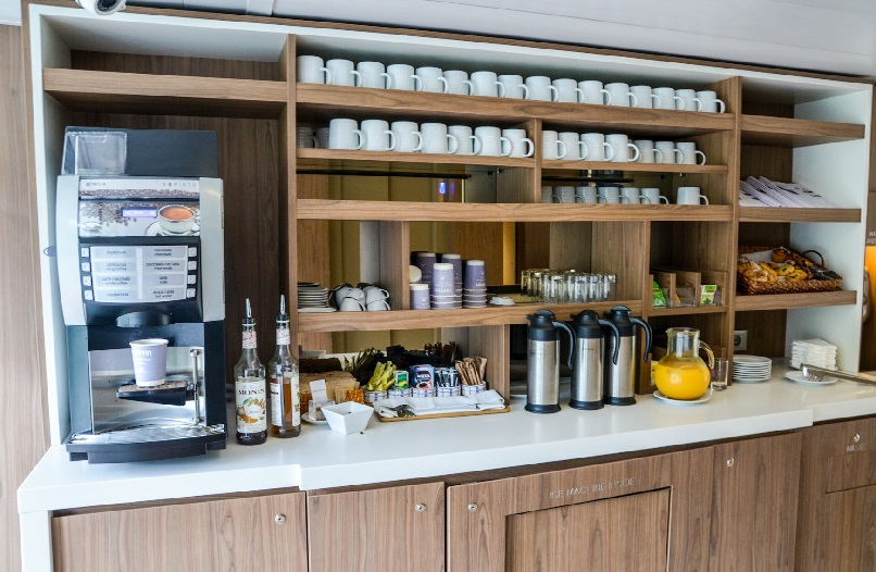 coffee and pastry station on viking torgil