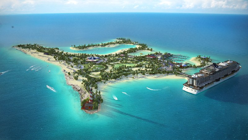 Cruise Line Creating Tropical Island Paradise