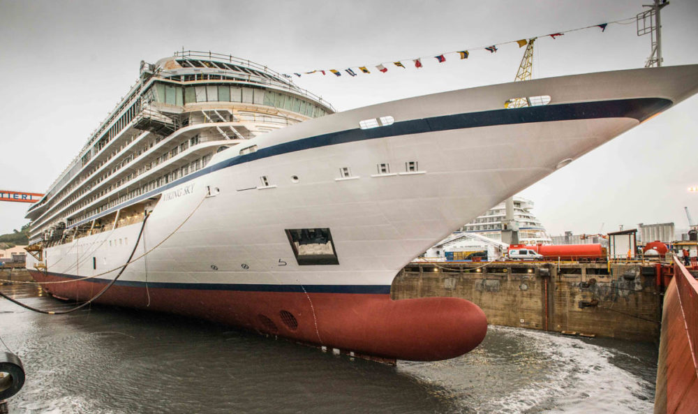 Viking Ocean Cruises Floats Out Third Cruise Ship Viking Sky