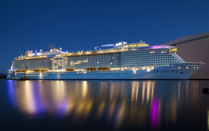 royal caribbean adds newest cruise ship to their fleet