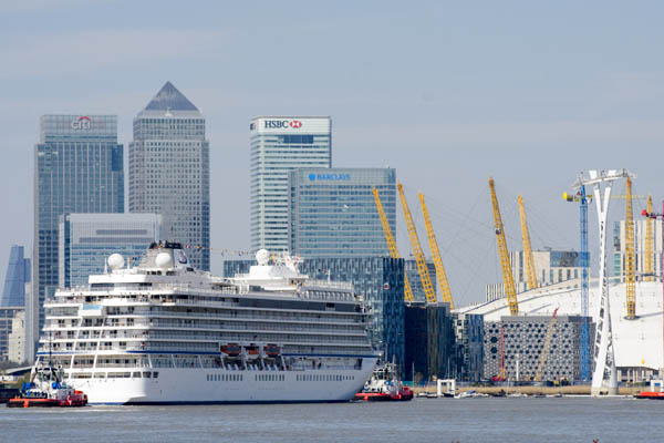 ÒViking Sea, officially a small ship, becomes largest ocean ship to be christened in LondonÓ ÒViking Cruises christens its second of six planned ocean ships in GreenwichÓ in London, Britain May 5, 2016