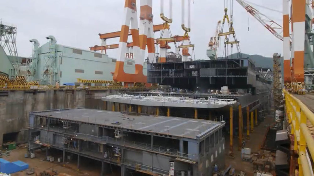 Incredible Time Lapse Of A Cruise Ship Being Built