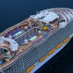 10 Incredible Aerial Photos of the World's Largest Cruise Ship, Harmony of the Seas