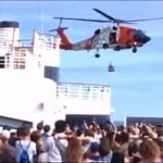 Crew Member Medevaced Off Carnival Cruise Ship (Video)