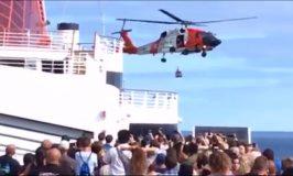 Crew Member Medevaced Off Carnival Cruise Ship (Video)