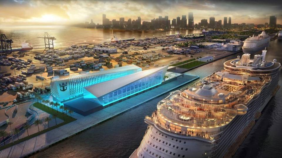Royal Caribbean Building New Terminal In PortMiami To Accommodate - Building a cruise ship