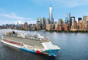 Norwegian Breakaway 7 night cruise from New York City to Bermuda.