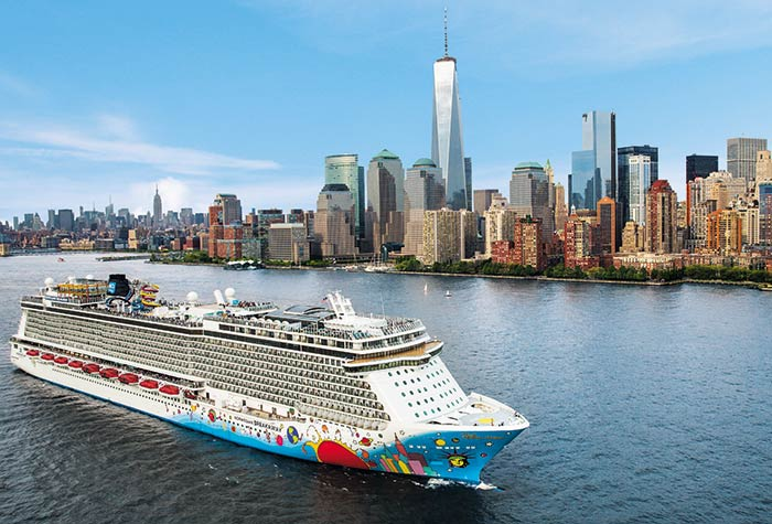 Norwegian Breakaway 7 night cruise from New York City to Bermuda.