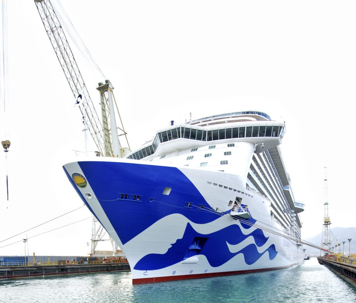 Royal Princess Emerges From Drydock With New Livery Photos