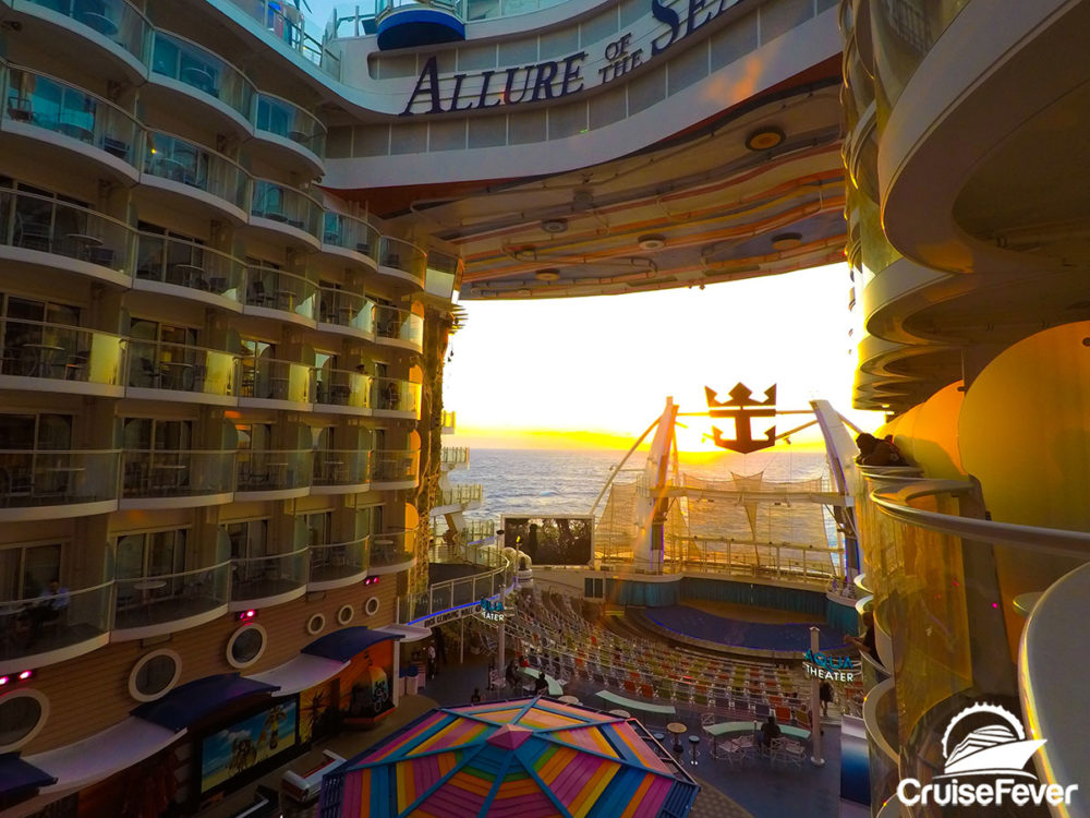 Pros and cons of a boardwalk balcony stateroom on allure for Caribbean cruise balcony