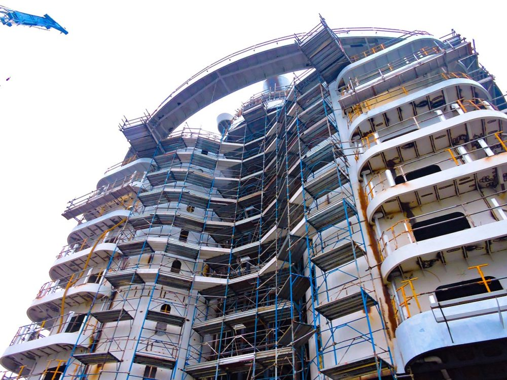 Inside Look At The Construction Of S Hottest New Cruise Ship - Cruise ship condo