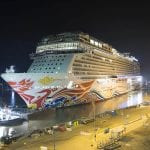 Norwegian Cruise Line's Newest Cruise Ship Leaves Shipyard